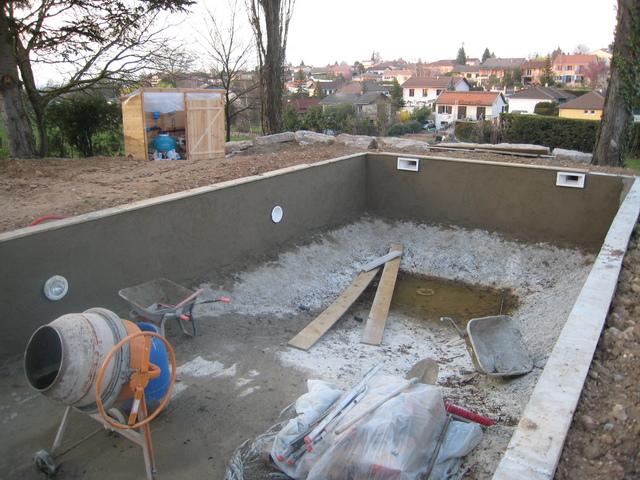 Étonnant Enduits Hydrofuge au Mur de la Piscine - DEV.Construire-sa-piscine.com IW-82