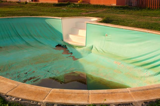 dégradation piscine