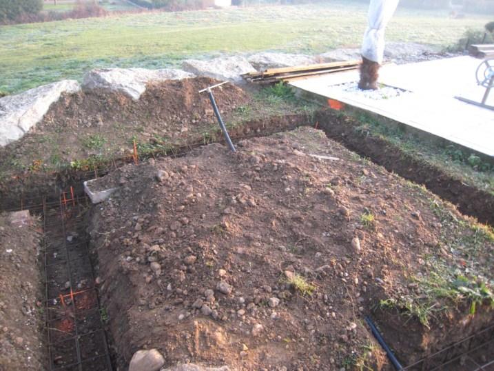 fondations bord piscine