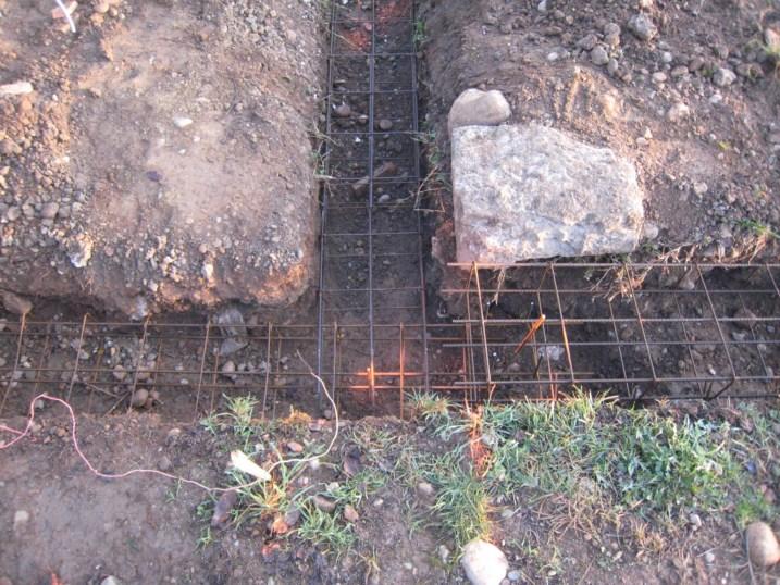 fondations ferraillees pool house