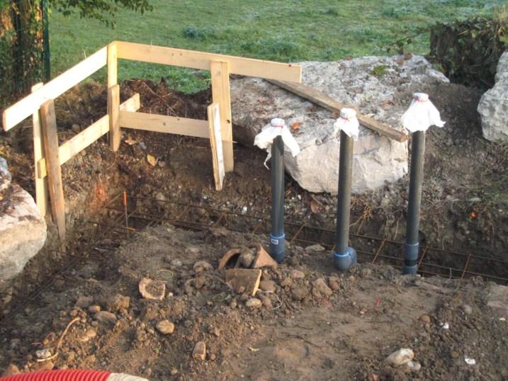 fondations tuyaux