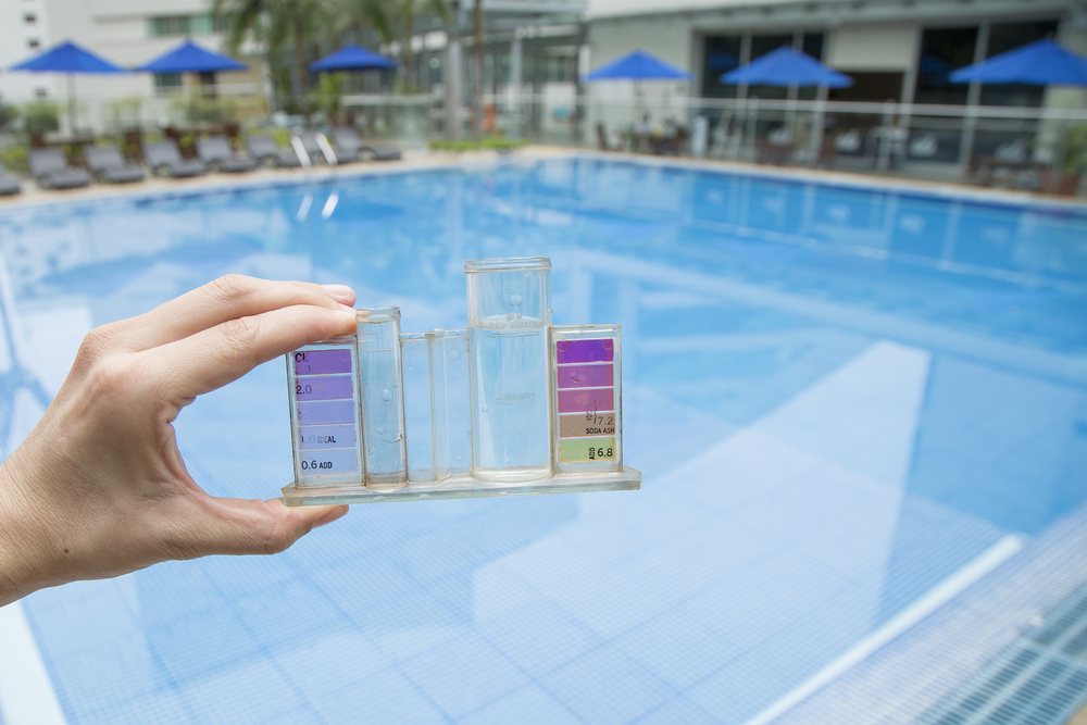 kit de test eau d'une piscine